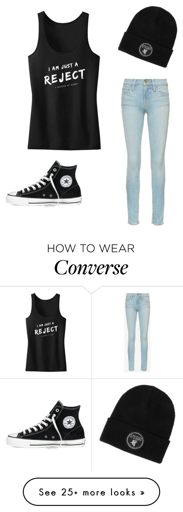"""""""Untitled #150"""" by izzy6603 on Polyvore featuring Frame Denim and Converse"""
