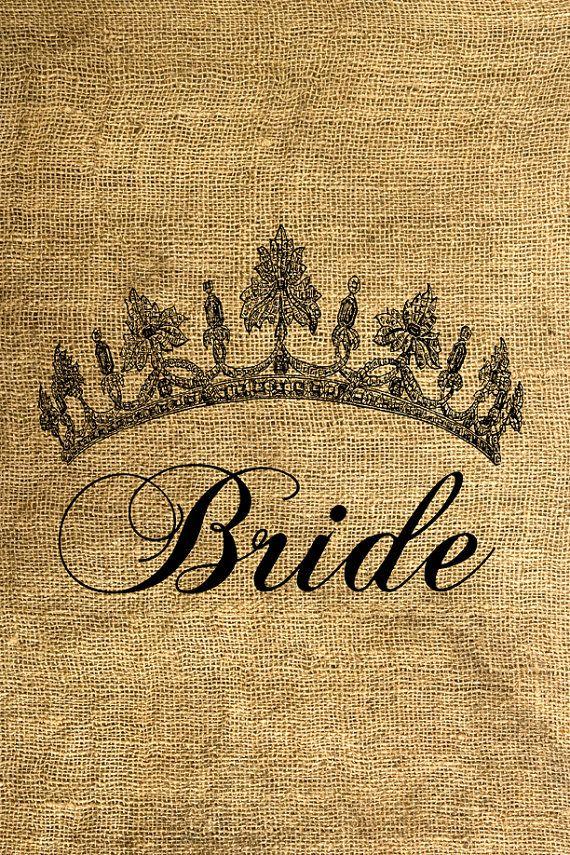 Bride Tiara  Download and Print  Image Transfer  Digital by room29, $1.00
