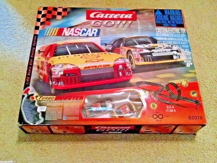 Carerra Slot Car Set Go NASCAR Jeff Burton Kevin Harvick Impala SS Works As Is #Carrera