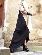 Женщины Длинные Платья Макси 2016 Осень Европейский Стиль Мода Дамы Нерегулярные Хем Лоскутная Платье Плюс Размер Vestidos(China (Mainland))