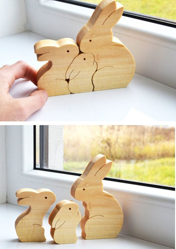 25 unique easter gift ideas on pinterest egg boxes easter sale 20 off easter gift wood rabbit wooden puzzle bunny easter decorations negle Images