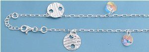 Sterling Silver Italian Anklet with AB Crystals - 10'' in Length Leg Avenue. $25.43. Sterling Silver. Italian Anklet with AB Crystals. 10'' in Length