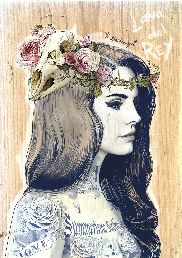 Illustrations by Mimi ilnitskaya, this is so beautiful! I love Lana.
