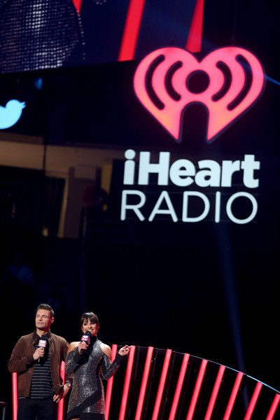 Lea Michele Photos Photos - Host Ryan Seacrest (L) and actress/recording artist Lea Michele speak onstage at the 2016 iHeartRadio Music Festival at T-Mobile Arena on September 24, 2016 in Las Vegas, Nevada. - 2016 iHeartRadio Music Festival - Night 2 - Show