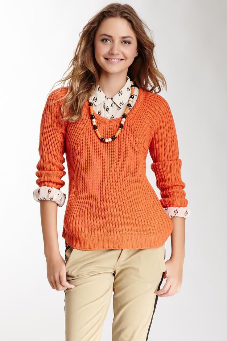 Hi-Lo Cable Knit Sweater