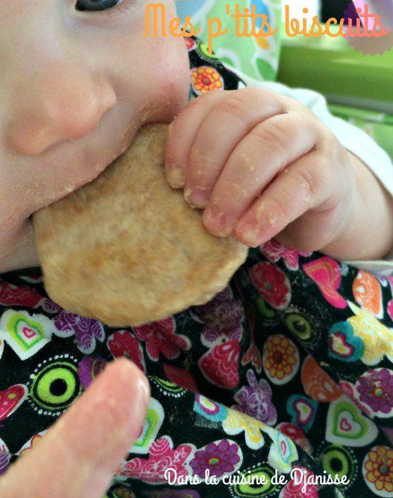 Biscuits vegans pour petits gourmands dès 8/9 mois,ne nécessite pas forcément de dents.