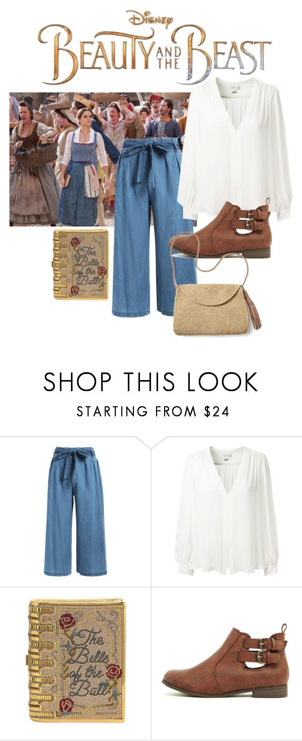 """Untitled #81"" by kayleymagee123 ❤ liked on Polyvore featuring Disney, Erin Fetherston, Judith Leiber, Mar y Sol, BeautyandtheBeast and contestentry"