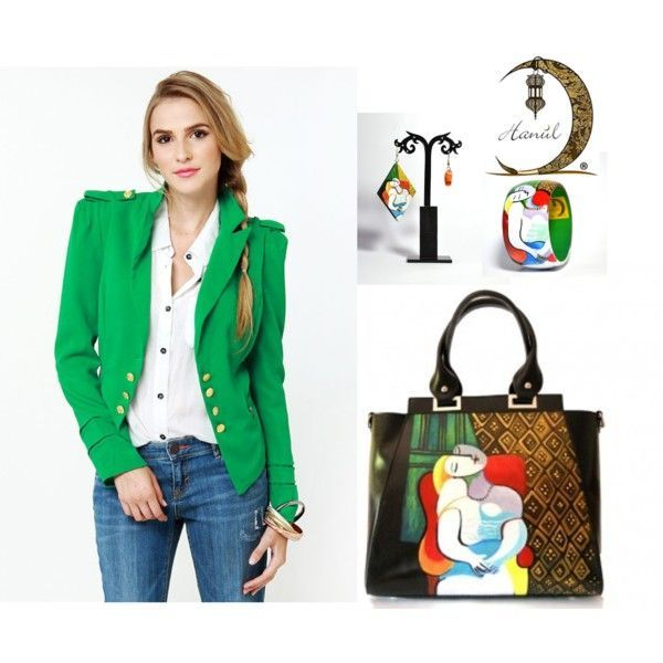 #borsedipinte# bracciale #paintedbag #orecchini #dipinti #accessori #fashon #outfits #pablopicasso httpgoo.glnSY306