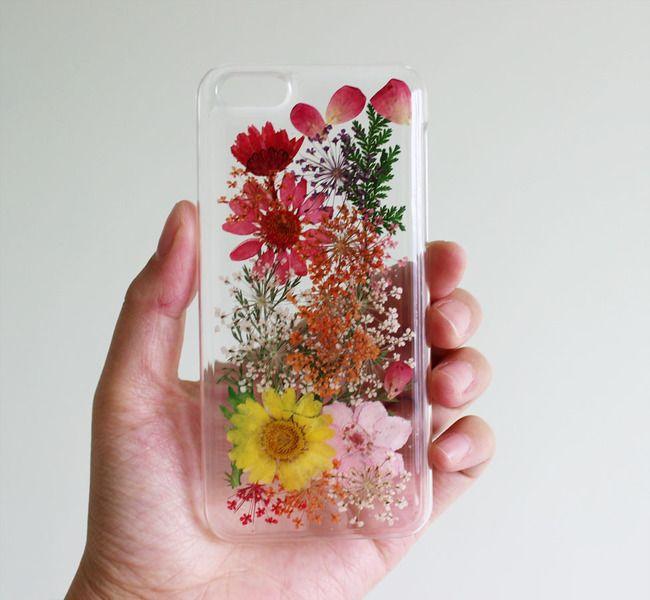 Handytaschen - Echte Blumen Galaxy s3 s4 s5 S6 Handyhülle - ein Designerstück von xiaoyan522 bei DaWanda