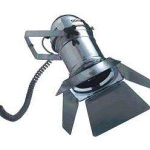 Foco ESTUDIO aluminio - Este foco convertirá cualquier rincón de su casa en el centro de atención. Las viseras/alas son flexibles y pueden extenderse.  Se puede usar como lámpara de pared o colgante. Con cable en espiral de 110cm (300cm estirado).