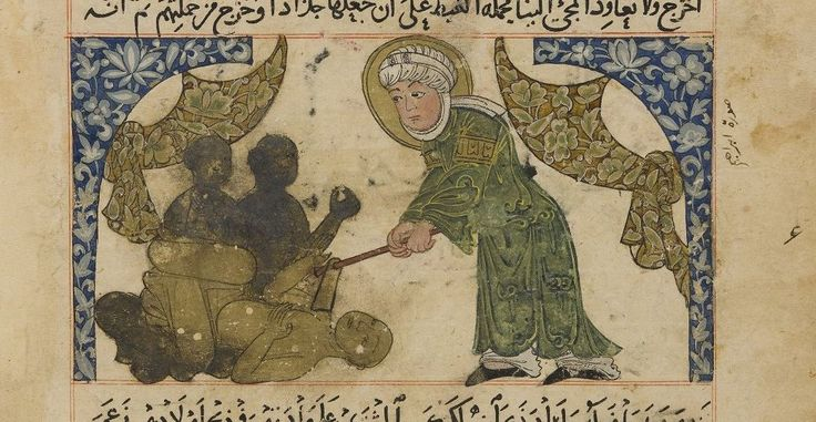 Abraham destroying the idols, from al-Biruni's Chronology of Ancient Nations…