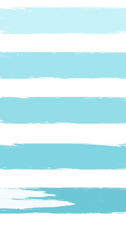 Ombre Tiffany Blue Paint Stroke Stripes | iPhone 6 Wallpaper