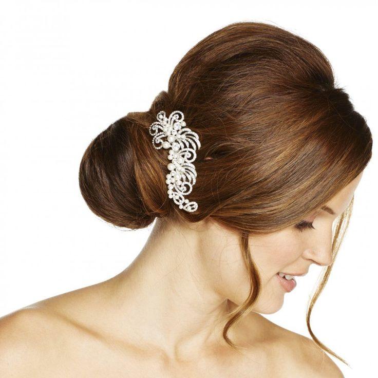 Jon Richard Pearl and crystal embellished swirl hair comb | eBay