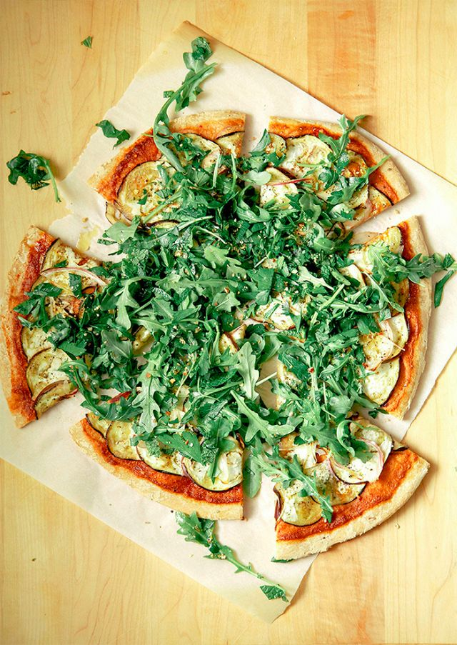 The Hero: Eggplants are one of the key flavors that make this pizza dish perfection.To see if the vegetable is ripe, check the sheen; the skin should be glossy and deep purple. The...