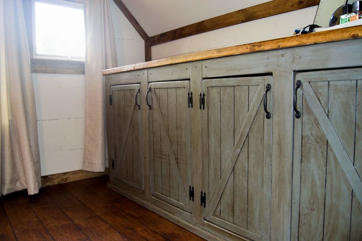 Scrapped the Sliding Barn Doors, Rustic Cabinet Doors Instead | Do It Yourself Home Projects from Ana White