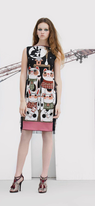 MANEKI NEKO DRESS haute couture tulle applique by NATIPUREIDEA