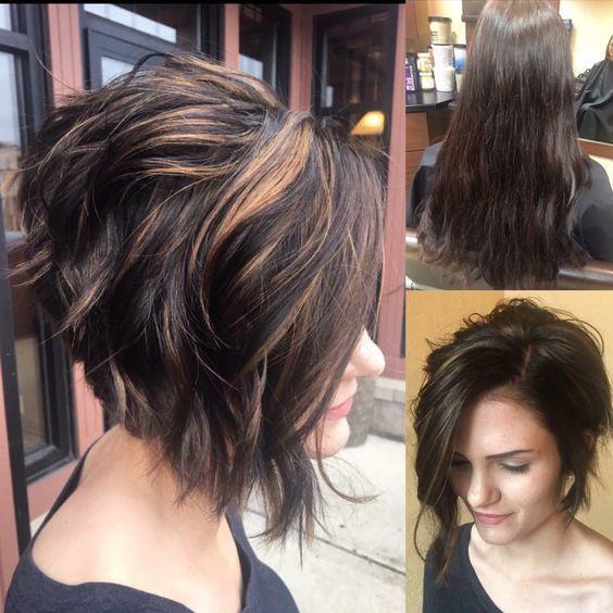 Stylish Messy Short Hairstyle Ideas - Frauen Kurzhaarschnitt #shorthairstylesforthickhair