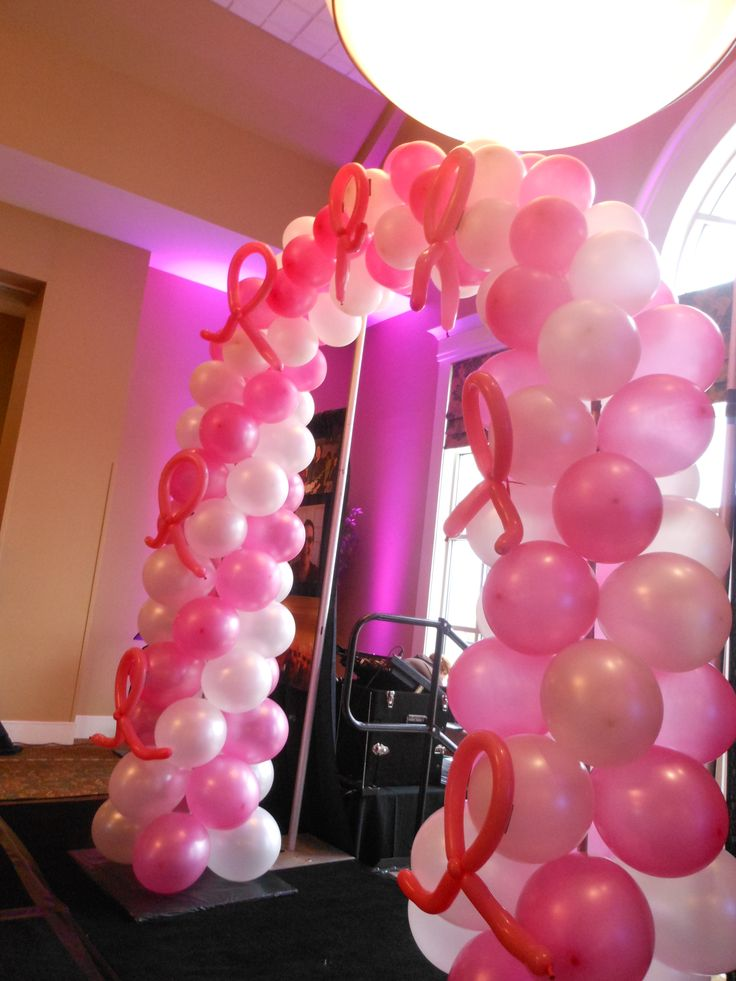 arch designed for fashion show breast cancer awareness