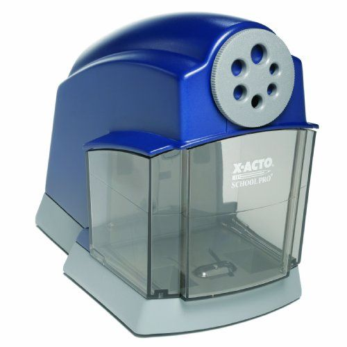 X-Acto School Pro Heavy-Duty Electric Sharpener (1670) $34.59...I need this. There is no such thing as too heavy duty.