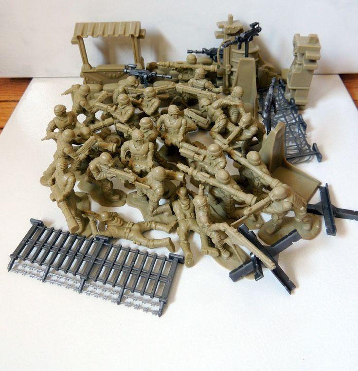 38Pcs/Set Simulation Battlefield Small Soldier Figures Soldier Models Toys Beige #Unbranded