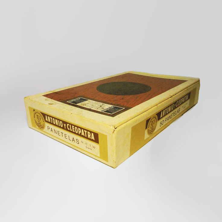 New product 'Vintage Antonio y Cleopatra Panetelas Empty Cigar Box American Cigar' added to Claudia's Bargains! - TCG804 - Claudia's Bargains offers for sale - Vintage Antonio y Cleopatra panetelas empty cigar box. 50 panetelas. The mildest top quality cigar