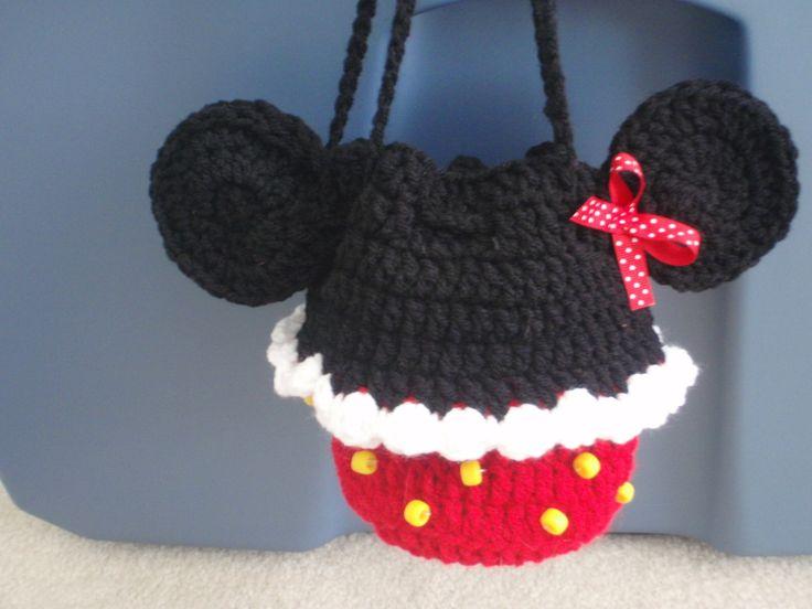 Free Crochet Mickey Mouse Purse Pattern : crochet cupcake minnie mouse mickey purse bag children ...