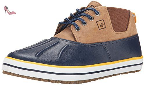 Sperry Fowl Weather Hommes cuir Chukka Bottes / Chaussures-Navy-44.5 - Chaussures sperry top sider (*Partner-Link)