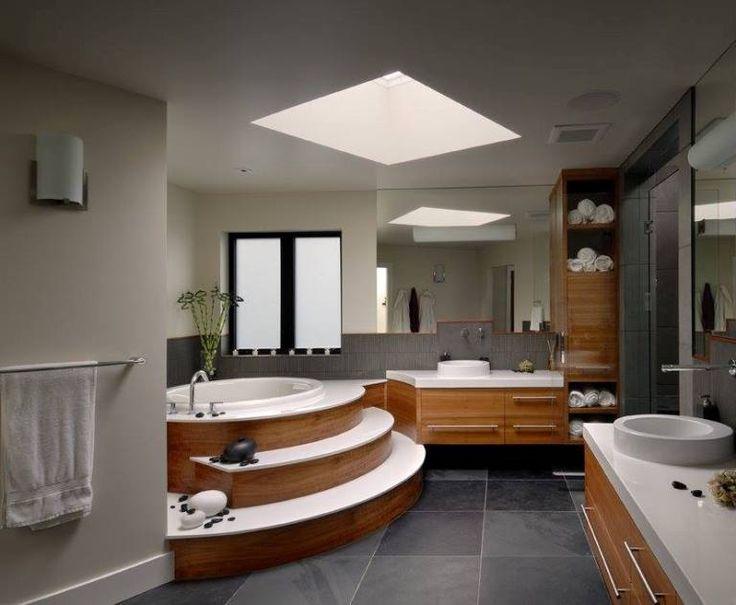 ahşap kaplama seramik banyo tasarımı