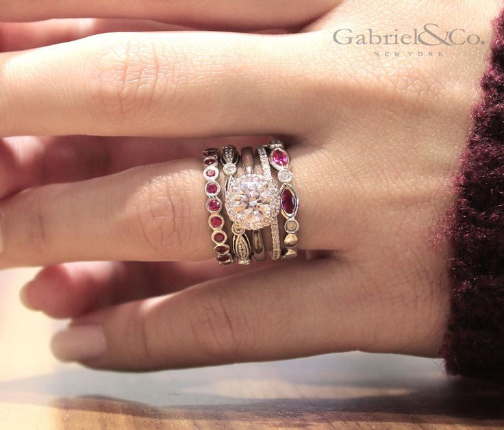 25 best ideas about stackable wedding bands on
