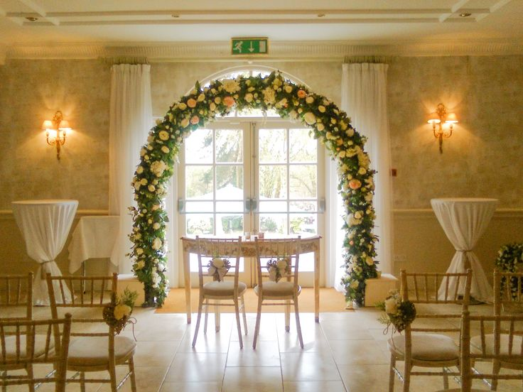 Our large Wedding Arch, available for bookings. Contact us through our website http://www.cherryblossomweddings.com #WeddingArch