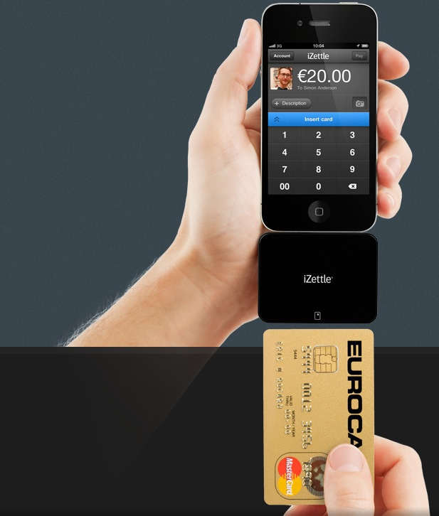 """iZettle.  Mobile payments. """"The European 'sqaure'."""