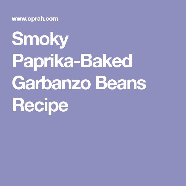 Smoky Paprika-Baked Garbanzo Beans Recipe
