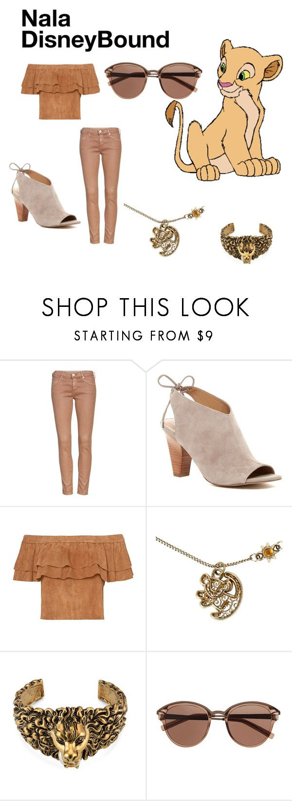 """""""Nala DisneyBound"""" by fandom-doll ❤ liked on Polyvore featuring AG Adriano Goldschmied, Franco Sarto, Disney, Gucci and Witchery"""