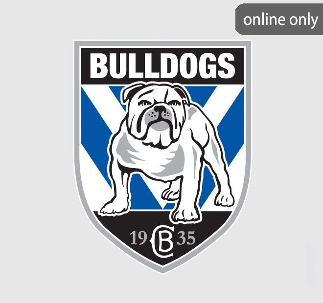 NRL Team Logo Quilt Cover Set and Accessories Range Canterbury-Bankstown Bulldogs