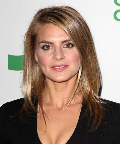 Eliza Coupe Hairstyle - Long Straight Casual - Light Brunette. Click on the image to try on this hairstyle and view styling steps!
