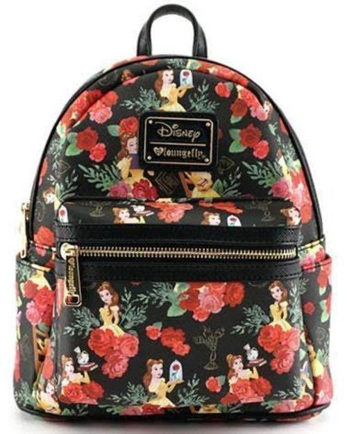 Loungefly ~ Disney ~Beauty   the Beast Belle Roses Mini Backpack Purse  WDBK0254  Disney  Backpack
