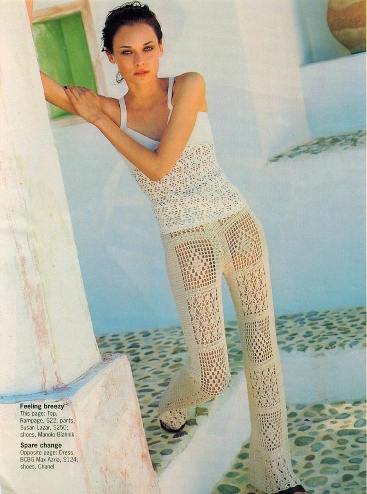 32 best PANTALONES en crochet images on Pinterest | Crochet clothes ...