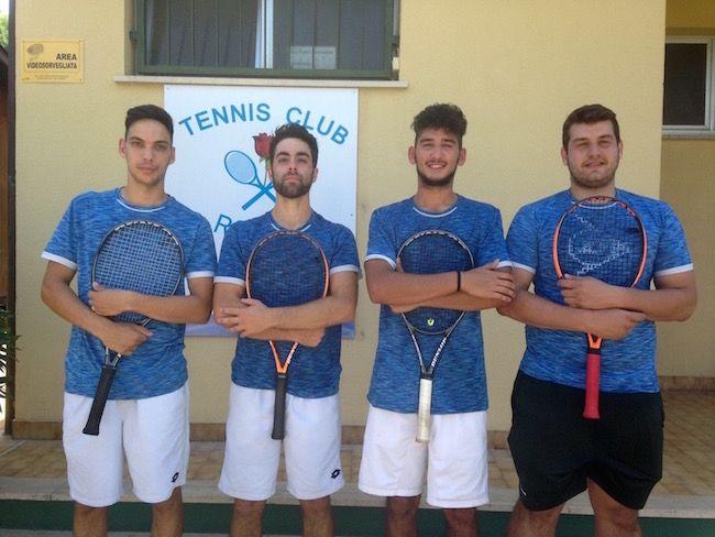 Il Tennis Club Roseto campione regionale di serie D1