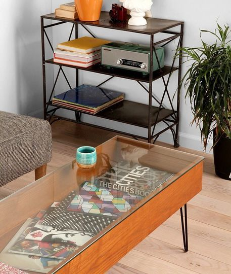 Gallery Coffee Table: Urban Outfitters @329. Metal Bookcase: Urban Outfitters @149.
