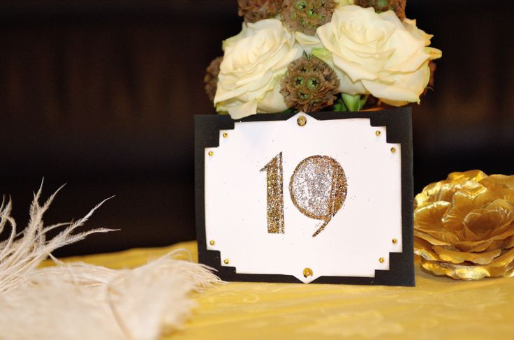 Gatsby table number