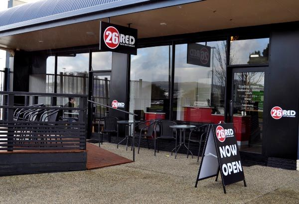 26 Red Cafe Restaurant, Murray Street, East Devonport. Now open for business meetings, casual meals or parties for groups.  Article and photo by Michelle Kneipp Pegler for www.think-tasmania.com