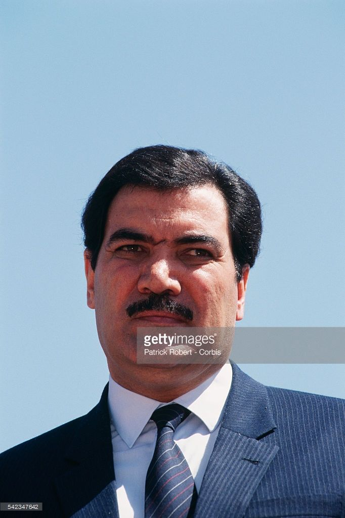 Mohammad Najibullah, President of the Communist Democratic Republic of Afghanistan, during the Soviet troops withdrawal ceremony in Kabul.