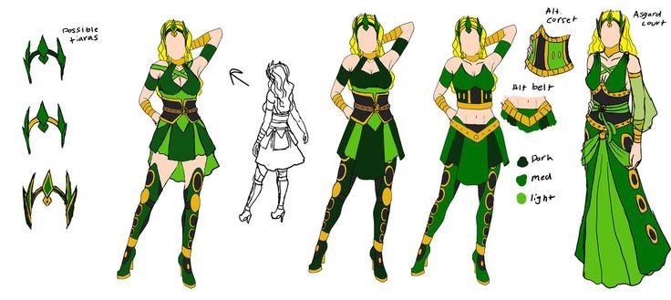 Updated Marvel's Enchantress by Dracophile.deviantart.com on @deviantART