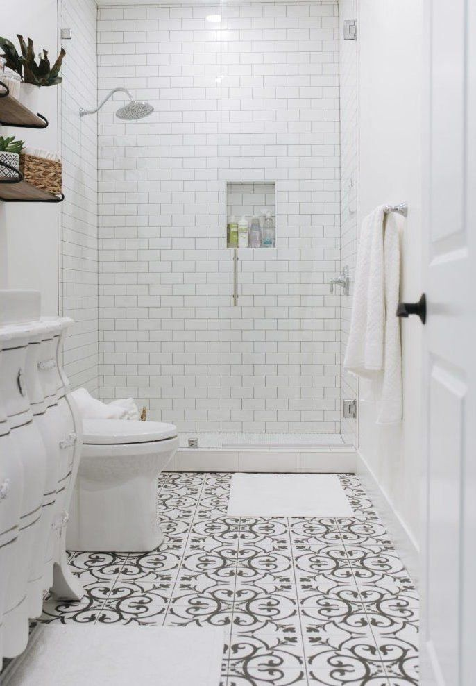 40 Black And White Bathroom Ideas And Designs Bathroomideas 1000 In 2020 Tile Bathroom Black And White Tiles Bathroom White Bathroom Tiles