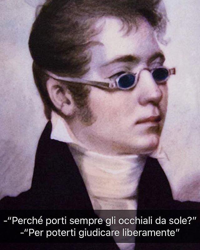 John Wesley Jarvis - Ritratto di un gentiluomo (1807 ca.) #seiquadripotesseroparlare  ________________________________ Volevo soltanto dire che questo quadro oltre ad essere estremamente autobiografico è vero e non modificato. Cioè questo davvero nel 1807 aveva gli occhiali da sole.  Passo e chiudo.