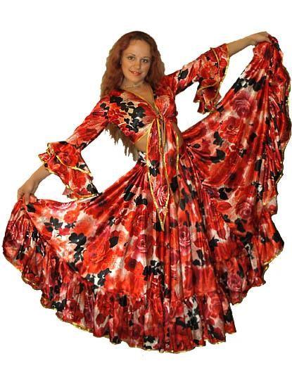 Взрослый карнавальный цыганский костюм