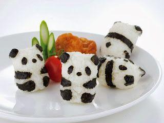 Kindertraktaties: Panda sushi PS je hebt een mal en knijper nodig voor deze traktatie :-(