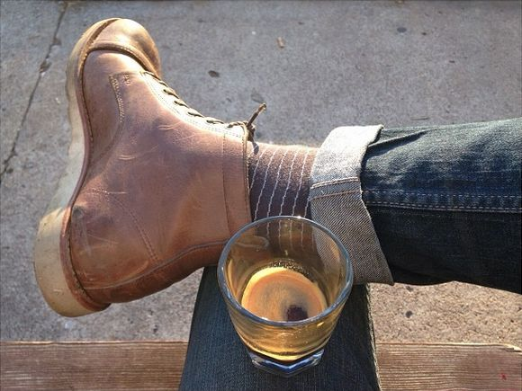 Railroad Boots Resoled With A White Vibram Cristy Sole