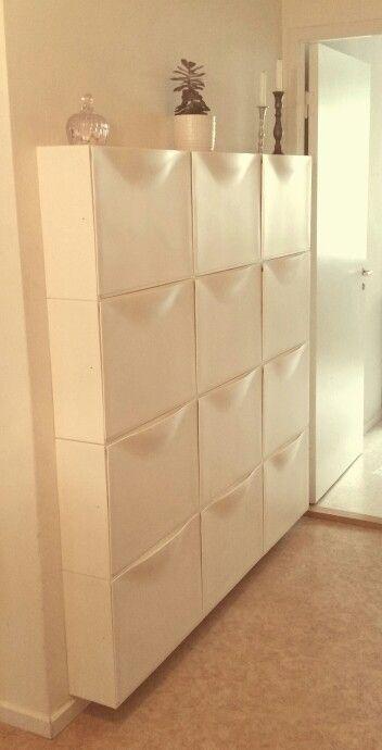 Ikea Trones storage wall.