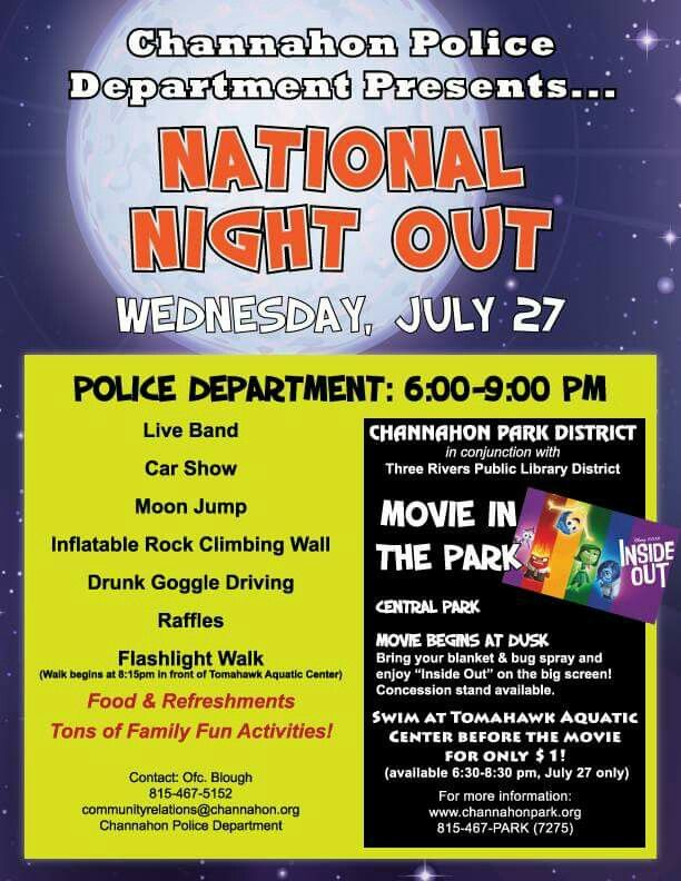 National Night Out in Channahon! Our Grand Dental - Channahon team will be there! #nationalnightout